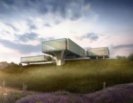 成都金堂淮州新城招商中心及周边配套绿化景观工程挡烟垂壁项目