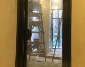 不锈钢单开单扇防火玻璃门