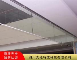 名家汇遂宁国药康复装修工程防火玻璃挡烟垂壁案例