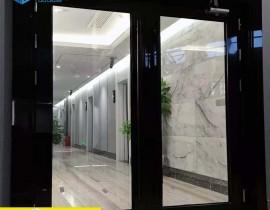 双流华阳名康会所乙级不锈钢防火玻璃门项目