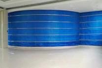 电动防火布挡烟垂壁是否可以定制为弧形?