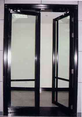 黑钛非隔热防火玻璃门