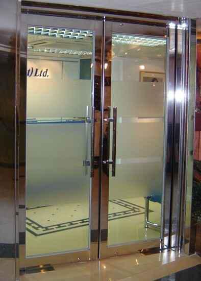 地弹簧防火玻璃门